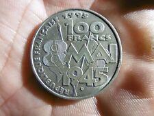 Pièce 100 francs argent 1995 PAX 8 MAI 1945