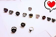 kpop rings  SHINEE, Got7, VIXX, Super Junior, Royal Pirates.