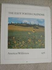 4 Eliot Porter Calendars: 1978, 79, 80 Amer. Wilderness & 1985 Amer. Landscapes