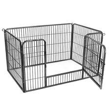 Welpenauslauf Freigehege Tierlaufstall Welpenzaun Laufgitter für Hunde PPK04GY