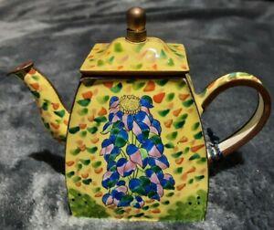 Charlotte Di Vita Trade Plus Aid Enamel Teapot Limited Edition C917 Hand painted