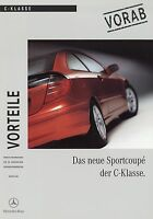 0430MB Mercedes C-Klasse Sportcoupe Vorteile Prospekt 2000 8/00 brochure