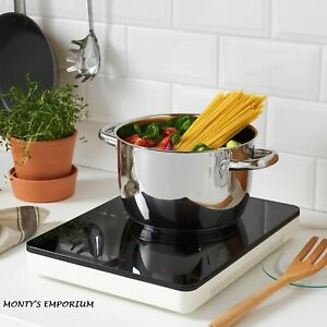 Portable Induction Hob NEW IKEA TILLREDA White Kitchen, Camping Garden Shed