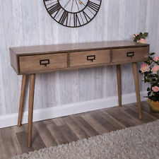 Wooden Desk Console Table Industrial Urban Retro Style Hallway Office Furniture