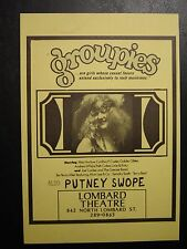 MEGA RARE GROUPIES & PUTNEY SWOPES Portland Movie Handbill 1970/71 NEAR MINT 8x5