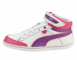 Puma Avila Mid Women's Leather Mid Top Trainers Shoes White 7304 UK Size 4
