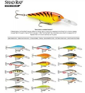 Rapala Shad Rap // SR09 // 9cm 15g Fishing Lures (Choice of Colors)