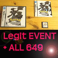Pokemon White 1 Loaded With All 649 + 60 Legit Event Unlocked Poketransfer Bank