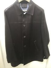 Prada Mens Leather Jacket  Brown Size 52 Solid
