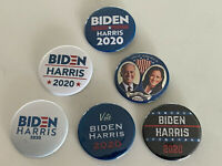 "Biden/Harris 2020 (Set of 6 Buttons) - Joe Biden & Kamala Harris (2.25"" pins)"