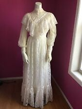 VTG Gunne Sax Romantic Victorian Renaissance Lace Wedding Gown