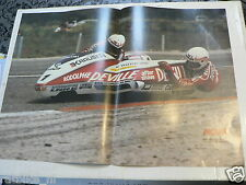 A097-POSTER BILAND AND WALTISBERG SIDECAR RACING KRAUSER DEVILLE NO 1 1980/81