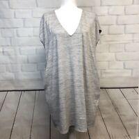 Wilfred Free Short Sleeve Tunic Shift Shirt Dress Pockets S  SLD1
