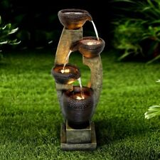 40 inch Outdoor Water Fountain Outdoor Garden Fountain with Contemporary Design