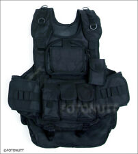 Brand New!! BLACK 4+1 TACTICAL VEST Paintball Harness