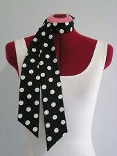 Rock n Roll/Rockabilly Neck/Head Scarf. Hair Tie. Black/White Spots