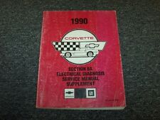 1990 Chevy Corvette Electrical Wiring Diagram Service Repair Manual Supplement