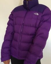 Women's Purple The North face Puffer Jacket/coat Size Large (L) Great Condition.
