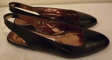 Joan and David Size 8B Saville Row Black Gator Print Sandals, Made in Italy,New!