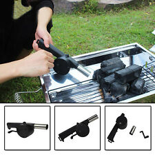 New Crank Driving Picnic Outdoor BBQ Barbecue Manually Air Blower Fan