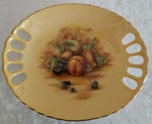 """AYNSLEY  """"ORCHARD GOLD"""" OVAL PLATE"""