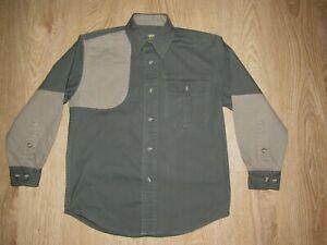 Cabela's  Boys Sportsman Shooting Hunting Shirt~ Long Sleeves~ Green Khaki ~ 12R