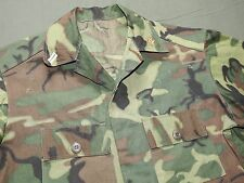 US Navy Vietnam CIVIL ENGINEER OFFICER CUSTOM POPLIN ERDL CAMO JUNGLE SHIRT EXC