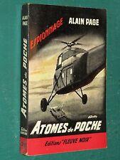 Atomes de poche Alain PAGE Fleuve noir espionnage 298