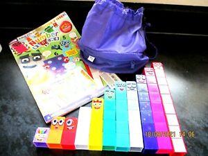 Numberblocks Cbeebies 1-10 + Collector's Issue BBC Magazine + Bag Number Blocks