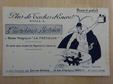"""Ancien Buvard """"l'Encrivore Antoine"""" Diable Boîte magique """"La Précieuse"""" TBE"""