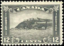 1930 Mint H Canada F+ Scott #174 12c King George V Arch/Leaf Stamp