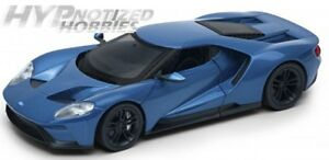 WELLY 1:24 NB 2017 FORD GT DIE-CAST BLUE 24082-4D