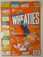 Empty WHEATIES Cereal Box 2001 TIGER WOODS 12 oz Breakfast of Champions