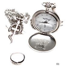 TRE Nizza Charm Japan Cosplay Fullmetal Alchemist Taschenuhr Halskette Ring Set