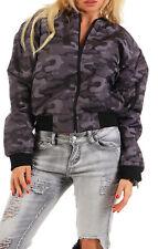 9t5 Bomberjacke Damen Camouflage Gr. S und L grau Reißverschluss Taschen