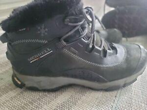 Merrell Primaloft 200 Gram Insulation Womens Size 8 1/2 Winter Black Boots