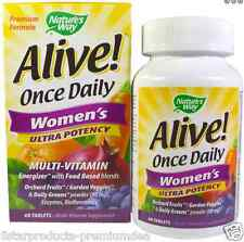 NEW NATURE'S WAY ALIVE! ONCE DAILY WOMEN'S ULTRA POTENCY MULTI-VITAMIN 60 TABLET