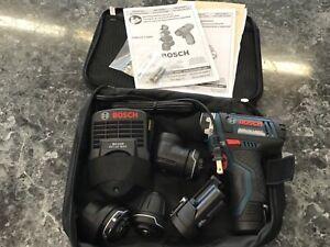 Bosch GSR12V140FC 12V Max FlexiClick 5-In-1 Drill/Driver System Kit New