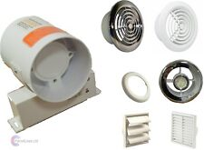 Inline Bathroom Extractor Fan Light Kit / No Light 100m3/h Condensation Shower