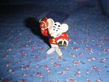 1986 Chuck E Cheese Mouse Figure Football  About 2 7/16 Inch High