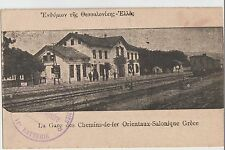 GREECE TURKEY 1916 THESALONIKI EASTERN RAILWAY STATION