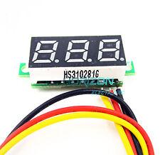 """5pcs PCS 0.28"""" LED DC  0-100V Digital Voltmeter Panel Meter Green COLOR"""