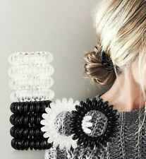 Spiral Hair Ties / Phone Cord Hair Ties / Hair Coils - 9 PC SET