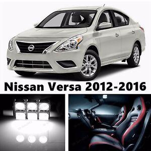 9pcs LED Xenon White Light Interior Package Kit for Nissan Versa 2012-2016