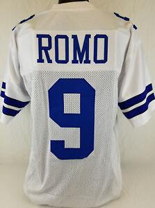 Tony Romo Unsigned Custom Sewn White Football Jersey Size - L, XL, 2XL