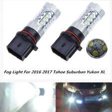 2 x 6000k White PSX26W LED Bulb For 2016 2017 Tahoe Suburban Yukon XL Fog Light