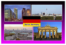 BERLIN - GERMANY - SOUVENIR NOVELTY FRIDGE MAGNET (SIGHTS) - NEW / GIFTS