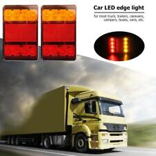 2 X Car Truck 8LED Tail Warning Lights Rear Lamps Tailights for Trailer Caravans