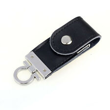 USB 3.0 16GB High-speed Business Leather Black Flash Drive Slim Memory U-Disk