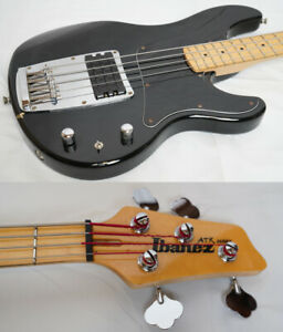 Used 1995 IBANEZ / Fujigen ATK100 BLACK MIJ Bass Guitar Player Grade